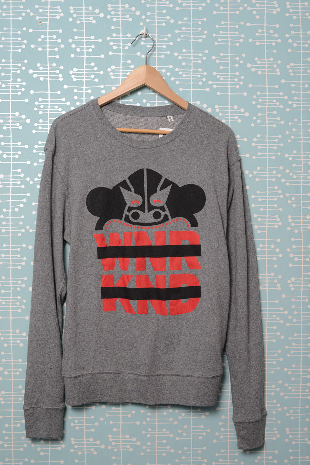 BUSK x WNRKND Cosy Sweater mid heather grey