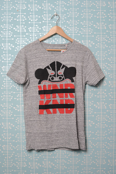 BUSK x WNRKND T-Shirt slub heather grey