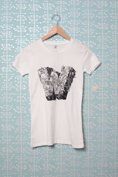 W Baseball Female T-Shirt white (Nychos)