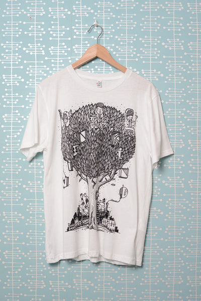 Tree T-Shirt white (by El Lasso)