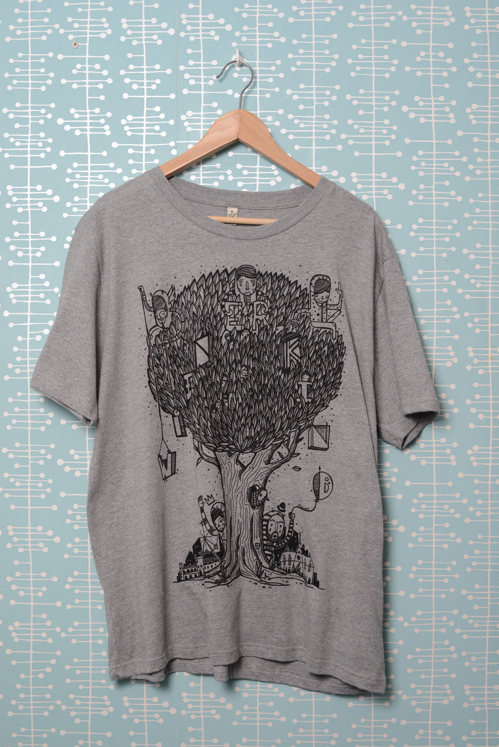 Tree T-Shirt melange grey (by El Lasso)
