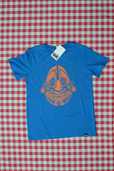 Mask Kids T-Shirt bright blue (by Daniel Werkner)