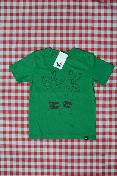 WK Signs Kids T-Shirt kelly green (by Clemo Mar)
