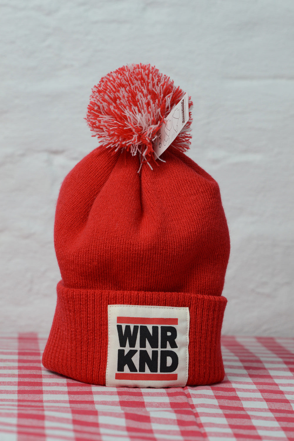 WNRKND Junior Snowstar Beanie red/white