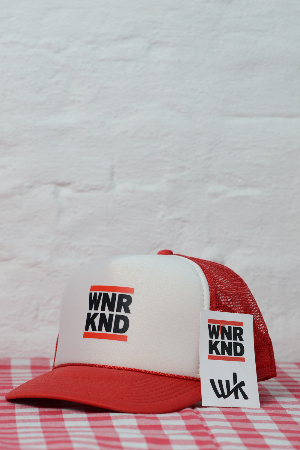 WNRKND Trucker Cap Kids red/white