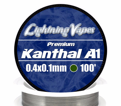 Central Vape City - Wire - Lightning Vapes - Kanthal A1 Ribbon Wire 50FT