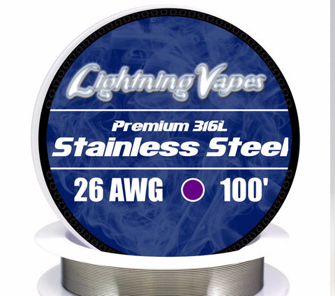 Central Vape City - Wire - Lightning Vapes - Stainless Steel 316L Wire 100FT