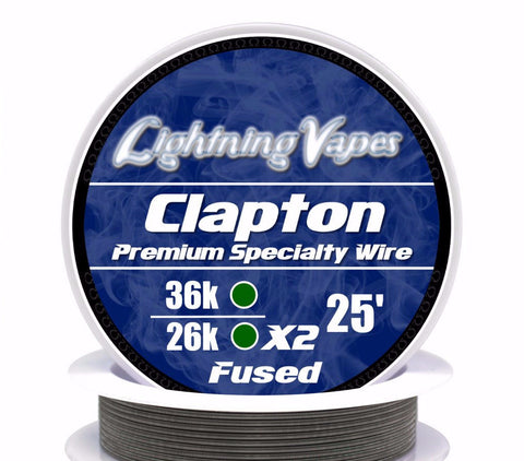 Central Vape City - Wire - Lightning Vapes - Fused Clapton Wire 25FT
