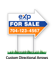 """eXp sign Open House Arrow Sign """"Agent Name & Phone #"""""""