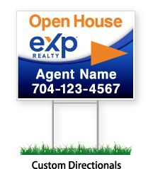 """Open House eXp sign """"Agent Name & Phone #"""""""