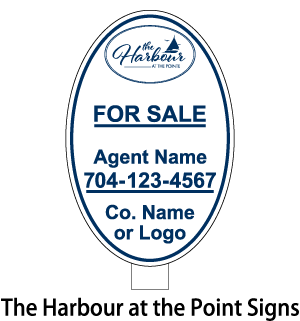 the harbour at the point signs