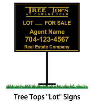 tree tops lot for sale signs