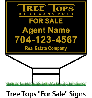 tree tops for sale signs