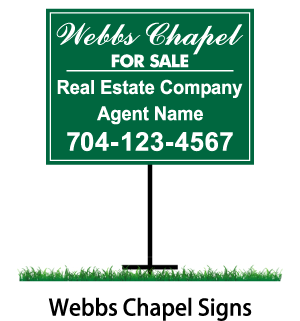 webbs chapel signs