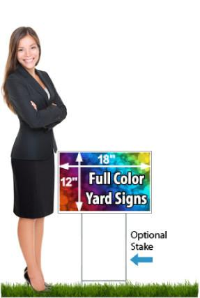 12 x 18 Full Color Coroplast Yard Signs
