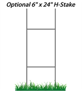 "Optional 6"" x 24"" Wire Sign Stake"
