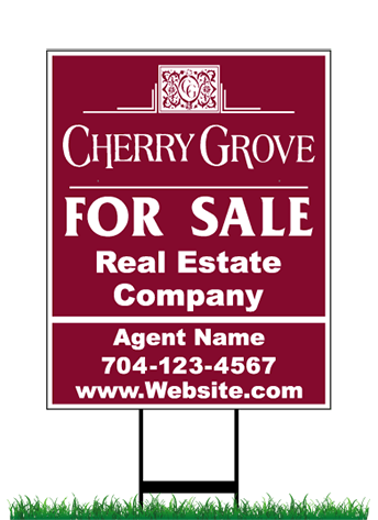 Cherry Grove Sign & Stand