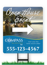 "28"" x 24"" Compass Real Estate Yard Signs"