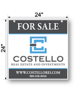 "24"" x 24"" #1 Costello Hanging Sign"
