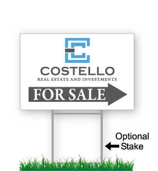 costello real estate directional signs