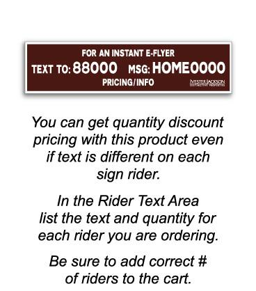 IJ Custom Text Sign Riders
