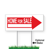 9 x 24 home for sale directional sign