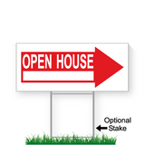 9 x 24 open house directional sign