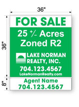 "LKN Realty Commercial Sign - Large 44"" x 36"""