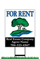 "28"" x 22"" neighborhood sign saying ""Monteith Park, For Rent, Real Estate Company, Agent & Phone #"""