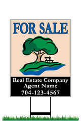 "28"" x 22"" neighborhood sign saying ""Monteith Park, For Sale, Real Estate Company, Agent & Phone #"""
