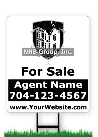 28 x 24 NHB Group real estate sign