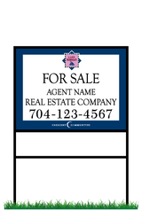 "18"" x 24"" Northview Harbour neighborhood sign & frame saying ""Lake Norman, For Sale, Real Estate Company, Agent & Phone #"""