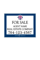 "18"" x 24"" Northview Harbour neighborhood sign saying ""Lake Norman, For Sale, Real Estate Company, Agent & Phone #"""