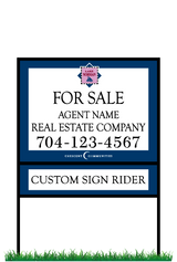 "18"" x 24"" Northview Harbour neighborhood sign & frame saying ""Lake Norman, For Sale, Real Estate Company, Agent & Phone #"" & sign rider"