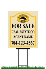 "22"" x 18"" neighborhood sign & stake saying ""Oakhurst For Sale, Real Estate Co., Agent & Phone #"""