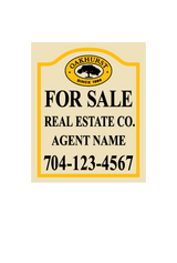 "22"" x 18"" neighborhood sign panel saying ""Oakhurst For Sale, Real Estate Co., Agent & Phone #"""