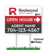 Redwood Custom Directional Sign