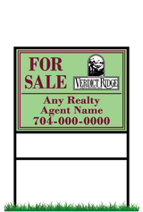 "18"" x 24"" neighborhood sign & frame saying ""Verdict Ridge, For Sale, Real Estate Company, Agent & Phone #"""