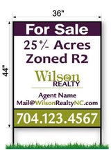 "Wilson Realty Commercial Sign - Large 44"" x 36"""