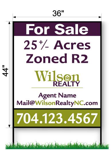 Wilson Realty Commercial Sign - Large 44