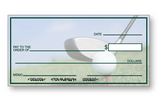 Large Presentation Check Golf Background