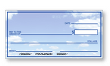 Large Presentation Check Sky Background