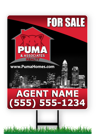 28 x 24 PUMA real estate sign