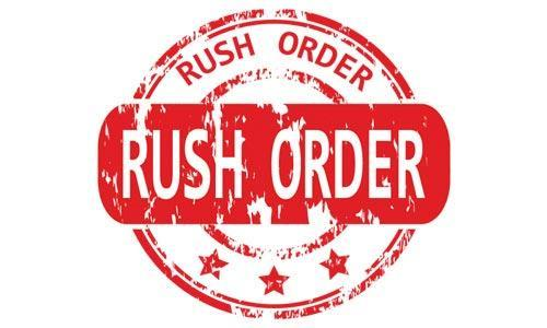Rush my Sign Rider order in 1 Business Day for just