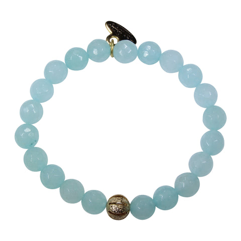 8mm Blue Amazonite Bracelet