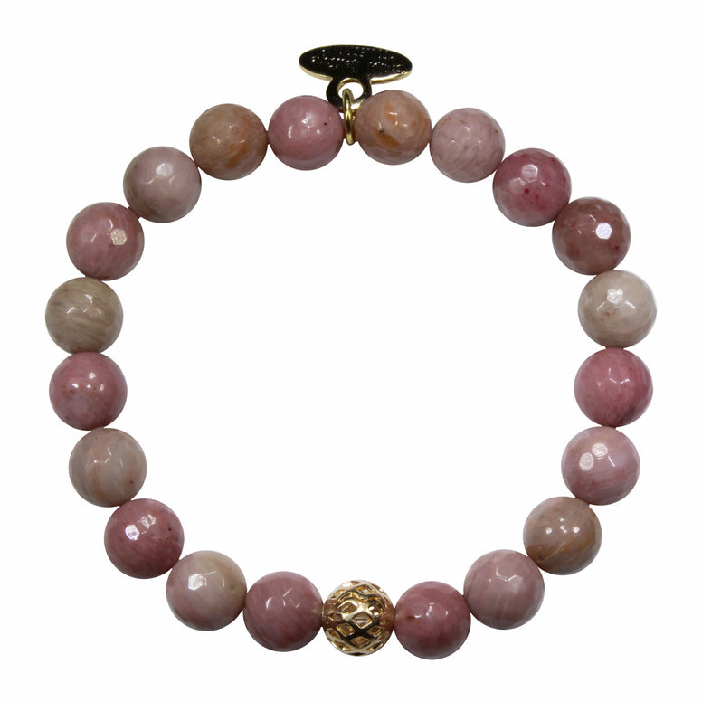 8mm Rhodonite Bracelet