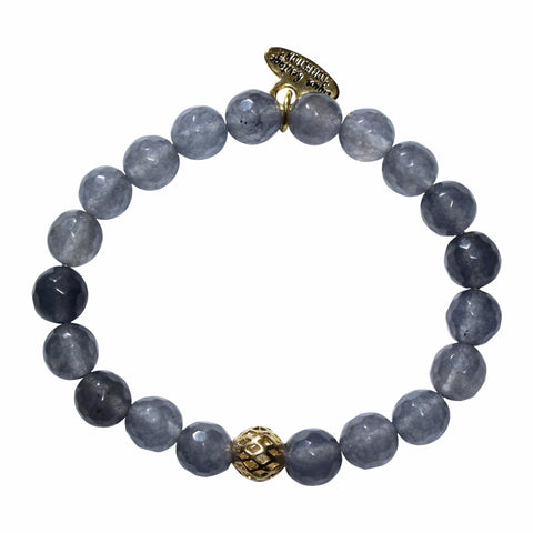 8mm Grey Jade Bracelet
