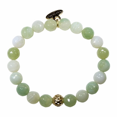 8mm Pastel Green Agate Bracelet