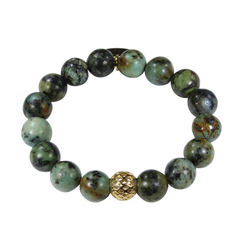 10mm African Turquoise Bracelet