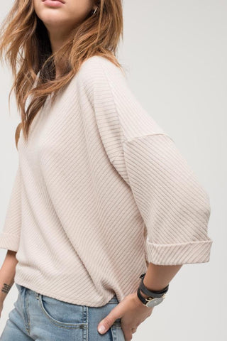 Taupe Quarter Length Knit Top